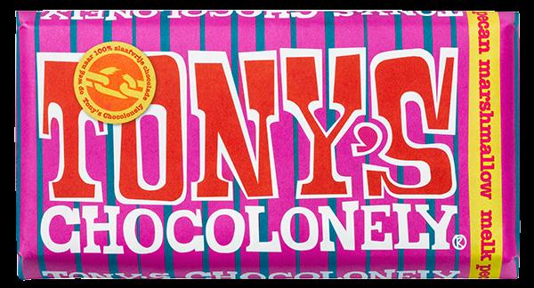 My happy kitchen test: Tony Chocolonely marshmellow pecan