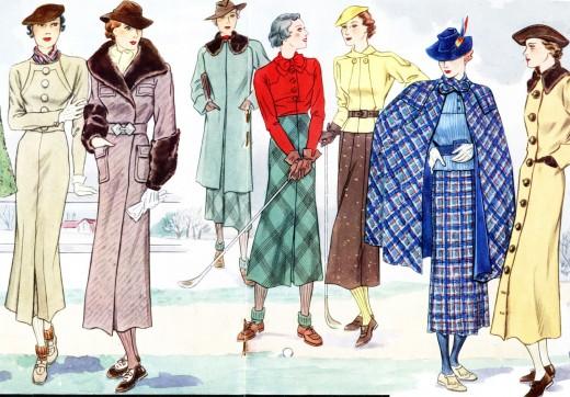 Flightless Boyds: Mid-1930s French fashion