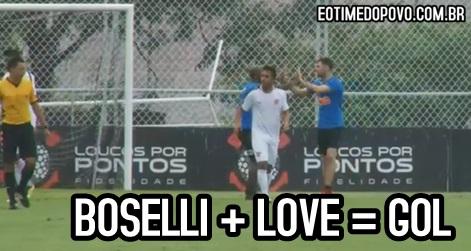 Assistência de Boselli e gol de Love