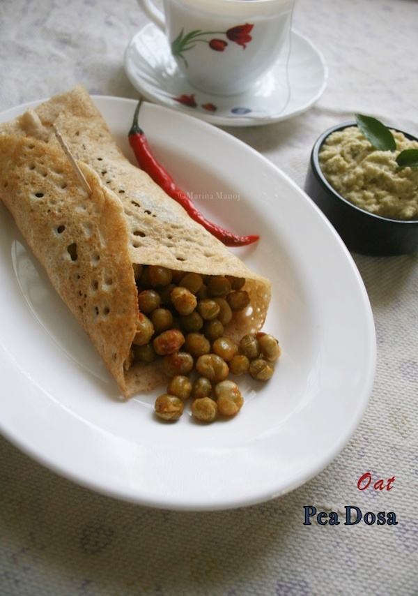 Oats Pea Dosa Recipe | How to make Oats Pea Dosa