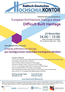 Deutsch Baltisches Hochschulkontor – Difficult Built Heritage | European Architecture Dialogue