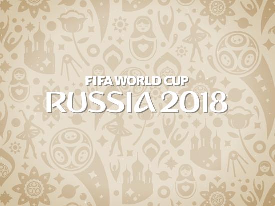 Fondo Patrón beig Rusia 2018 - vector