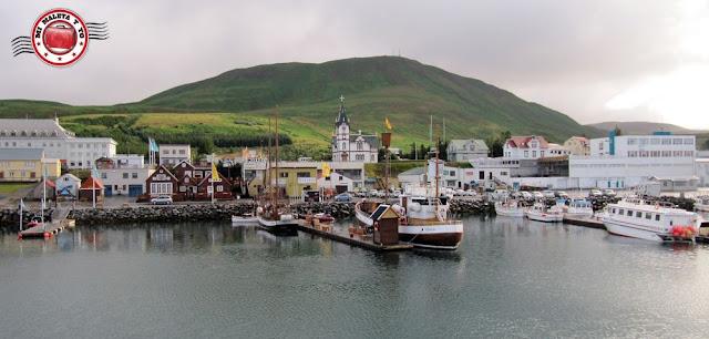 La ciudad pesquera de Húsavík, Islandia