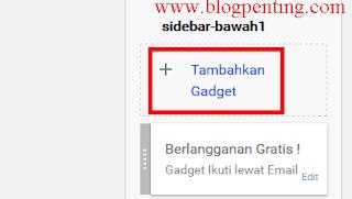 Tambahkan Gadget