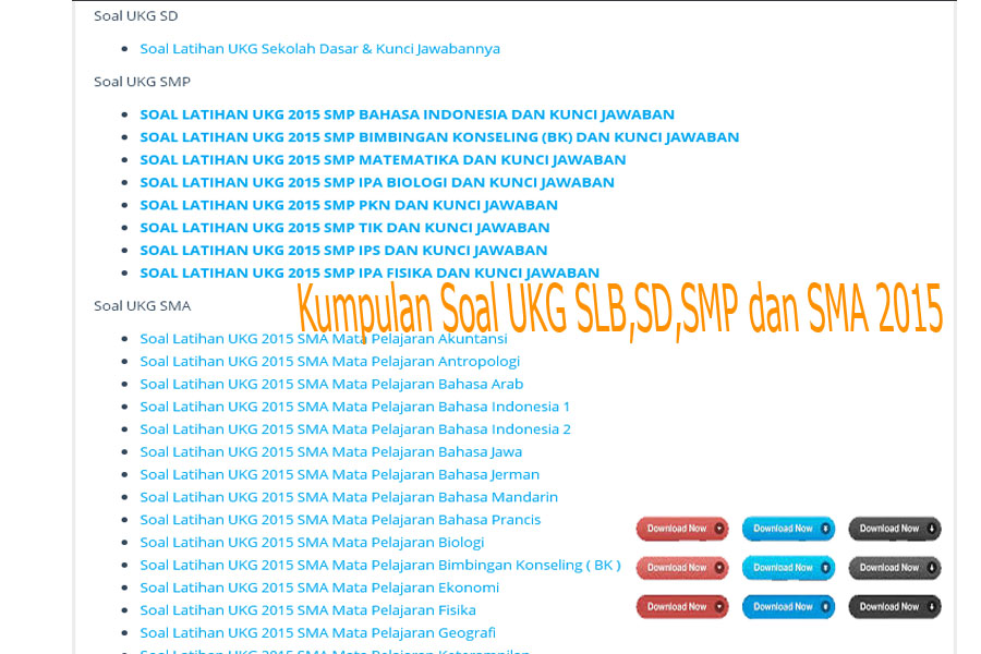 Unduh File Soal Ukg 2015 Slb Tk Paud Sd Smp Sma Blog Guru Kelas