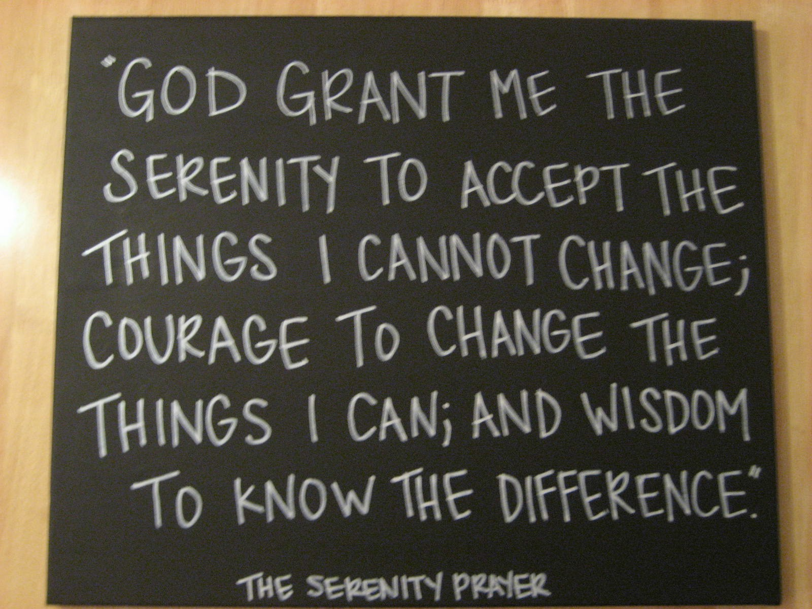 We Live In A Political World 111 Serenity Prayer