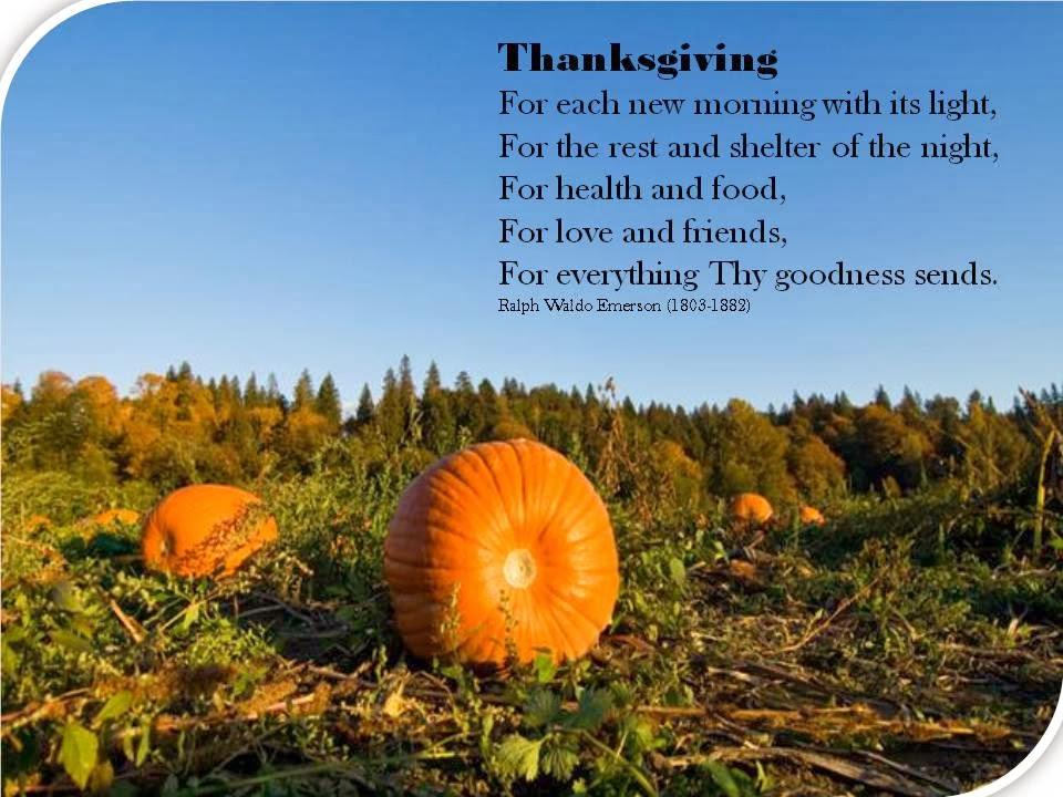 Image result for Being Thankful poems Emerson
