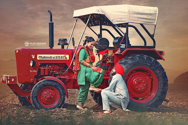 Couple On Tractor : Punjabi couples on tractor holidays oo