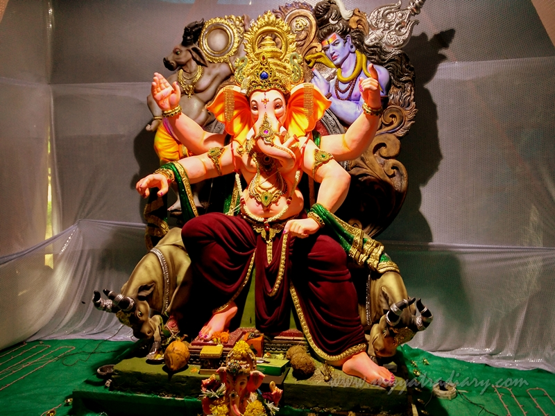 Lord of the Ganas, Ganapati in Ganesh Chaturthi Festival Pandal, Mumbai