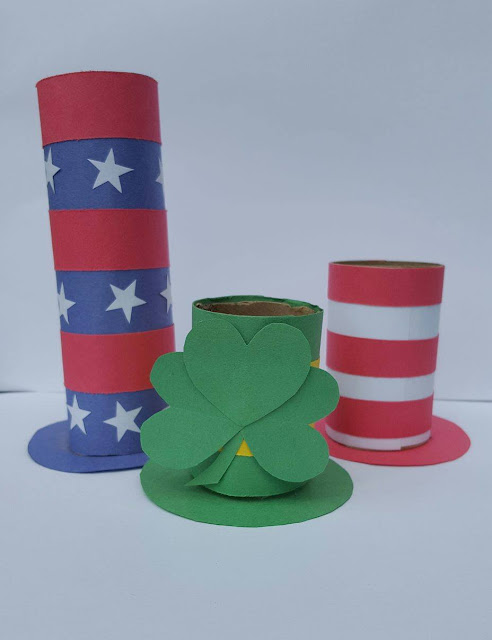 Holiday Hats Dr. Seuss Cat in the Hat Craft  Saint Patrick's Day Flag Day Independence Day Activities