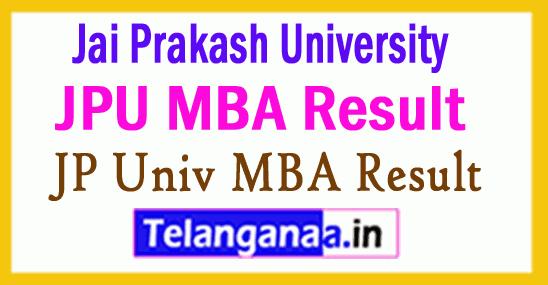 Jai Prakash University MBA Result
