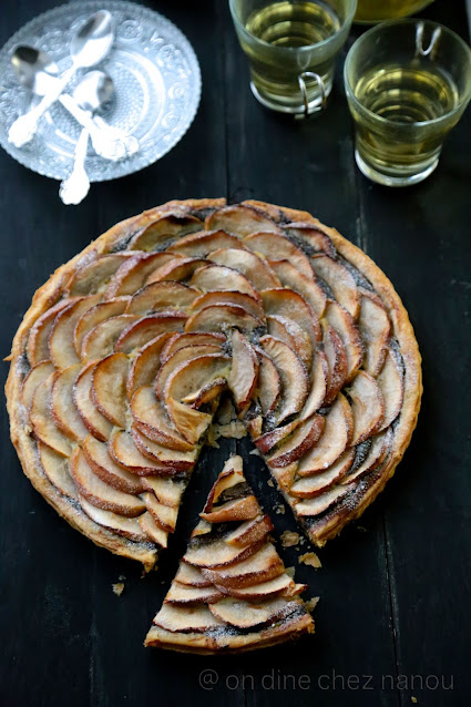 tarte aux pommes , pavot , pâte feuilletée express
