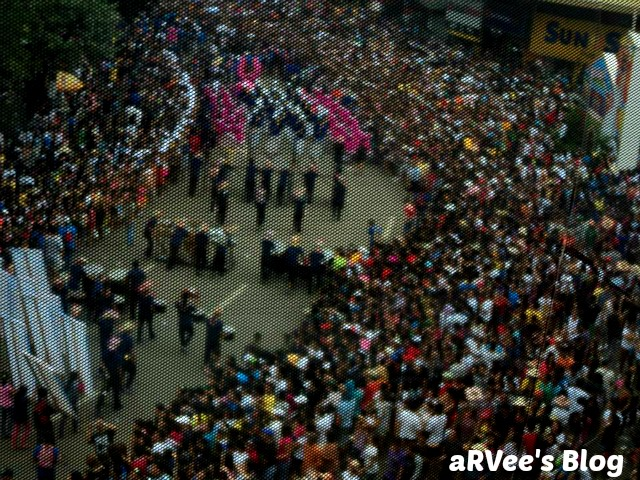 See of people during Sinulog festival