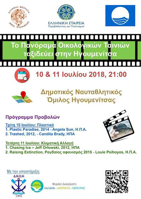 Το Πανόραμα Οικολογικών Ταινιών ταξιδεύει στην Ηγουμενίτσα