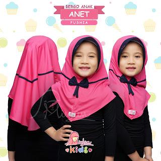 Anet Kids Jilbab Miulan Anak Fushia