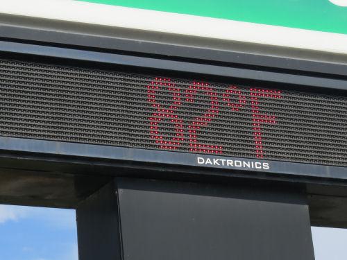 temperature sign