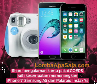 lomba menjadi influencer buzzer hadiah Apple Iphone 7 – 32 GB