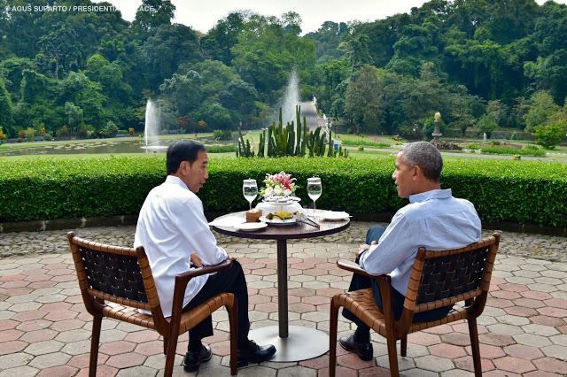 Inilah Pertemuan Hangat Presiden Jokowi dan Obama di Istana Bogor