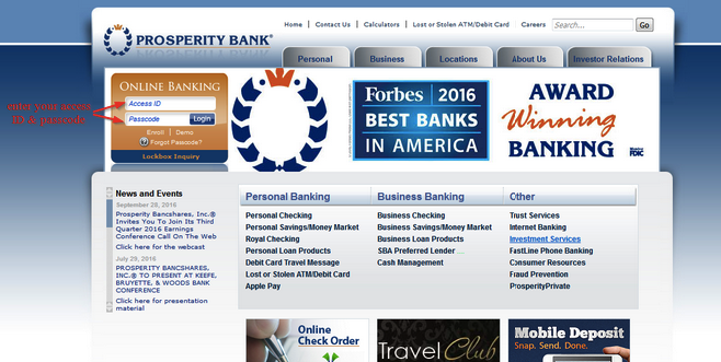 How to Log into Prosperity Bank
