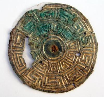 Bronze buckle from Britain found in Danish Viking grave