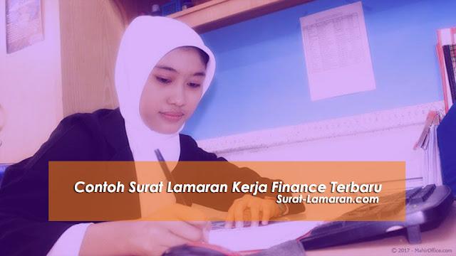 Contoh Surat Lamaran Kerja Finance Terbaru