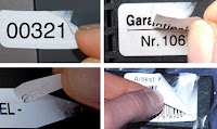 Sicherheitsmaterialien speziell für Thermotransferdrucker