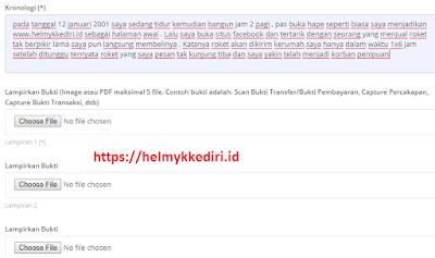 melaporkan penipuan onlinev