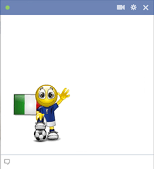 Italy football smiley