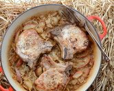 Thick Chops with Sauerkraut & Apples