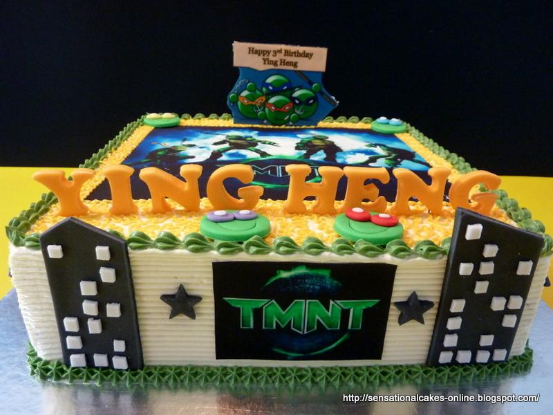 Cakes2Share Singapore TMNT TEENAGE MUTANT NINJA TURTLES CAKE