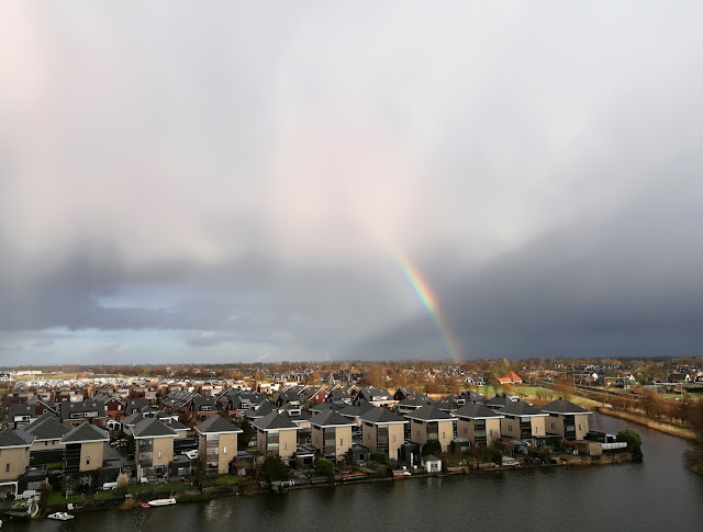 Spectacular rainbows over Alkmaar North Holland  3