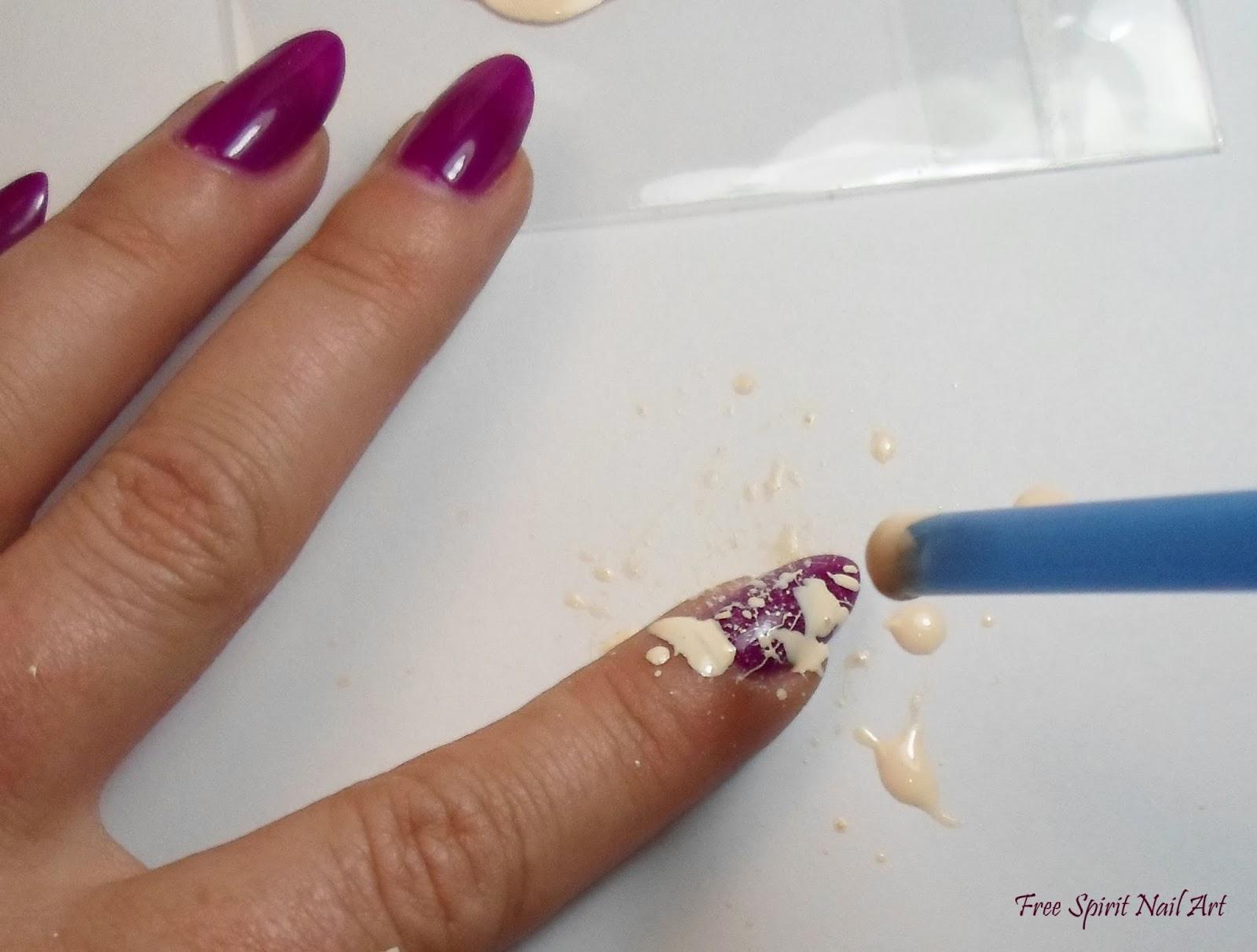 Free Spirit Nail Art Splatter Nail Art Tutorial
