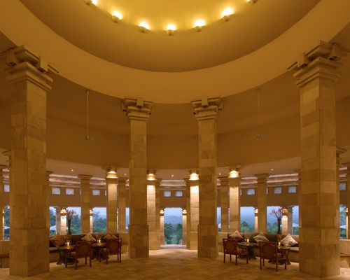 www.Tinuku.com Architecture and interior design rotunda Amanjiwo Resort Hotel inspired Borobudur stupa