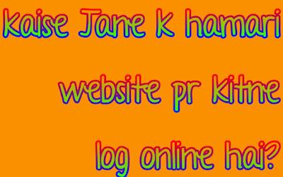 Kaise jaane k hamari website pr kitne log online hai?
