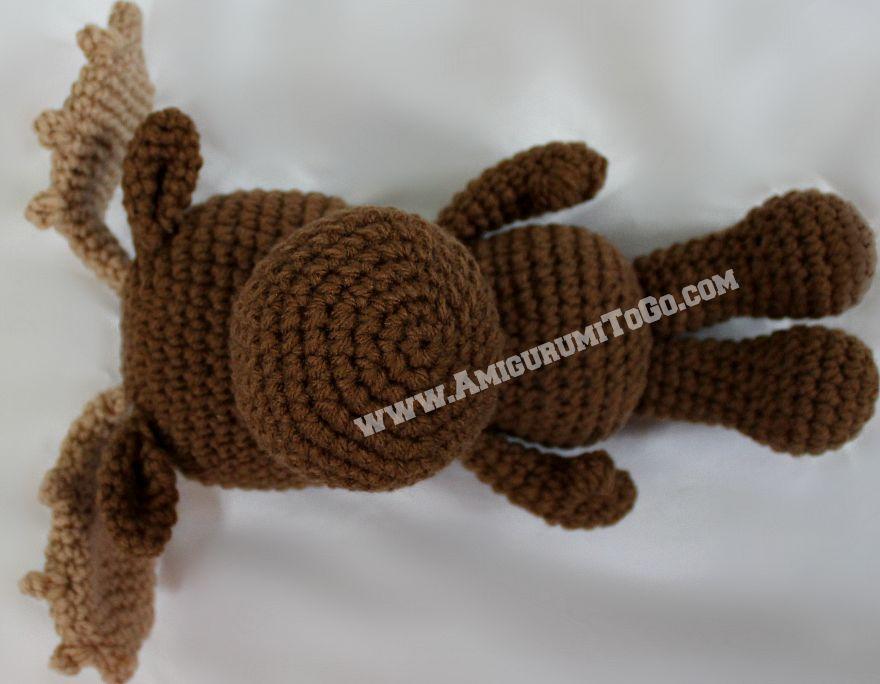 Little Bigfoot Moose Amigurumi To Go