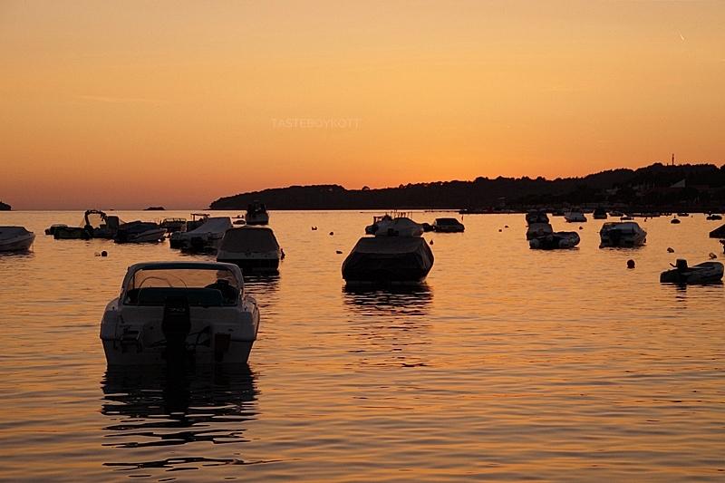 Croatia sea harbour sunset summer vacation evening sky