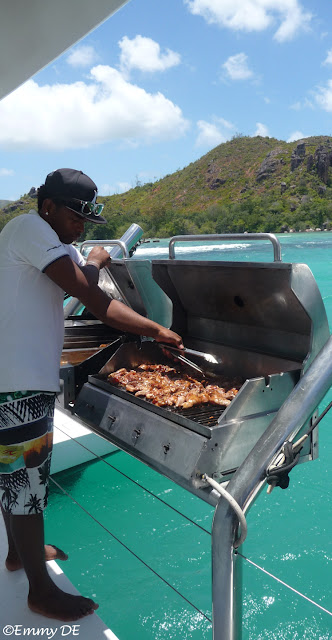 barbecue on board ~ Seychelles by ©Emmy DE