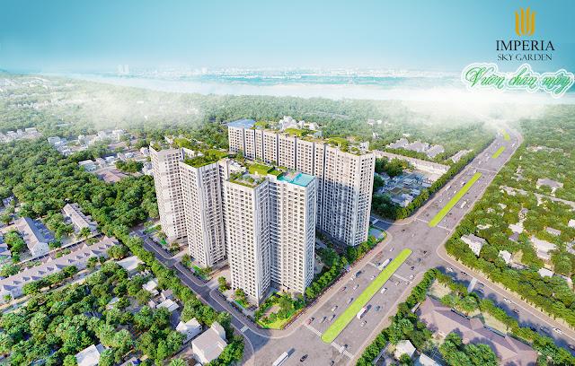 Phối cảnh tổng quan chung cư Imperia Sky Garden 423 Minh Khai