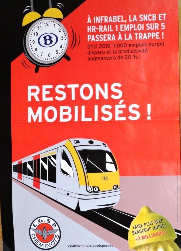 Infrabel Sncb Hr-Rail restons mobilisés