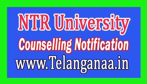 NTR University of Health Sciences NTRUHS M.Sc Nurses 1st Phase Counselling Notification