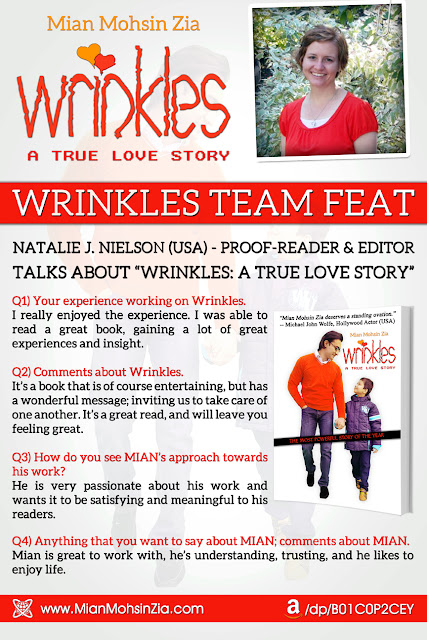 Wrinkles - Team Feat - Natalie J. Nielson (Proof-reader and Editor) Talks about Wrinkles.