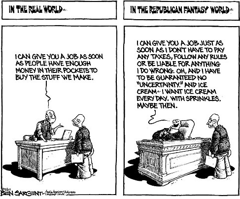 real world vs republican fantasy
