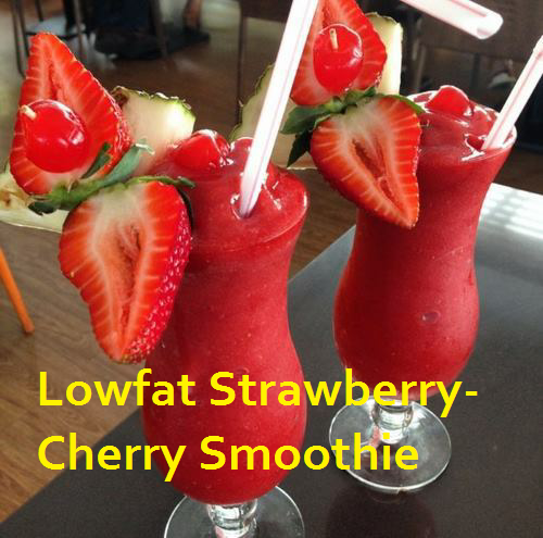 lowfat strawberry smoothie