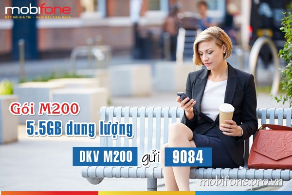 Gói cước 3G M200 Mobifone
