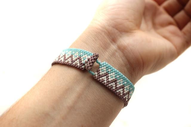 купить необычный браслет из бисера качественное украшение ручной работы