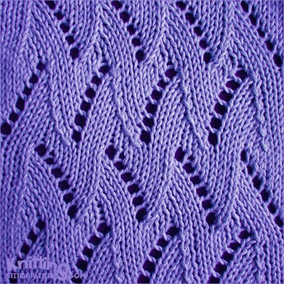 Chevron Knitting Pattern : Flame Chevron Knitting Stitch Patterns