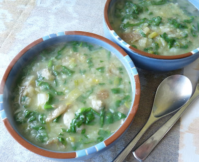 Leek Spinach and Potato Soup