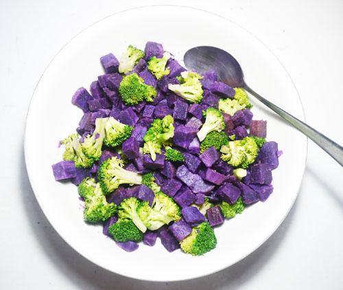 Resep Salad Ubi Ungu Brokoli Minimalis