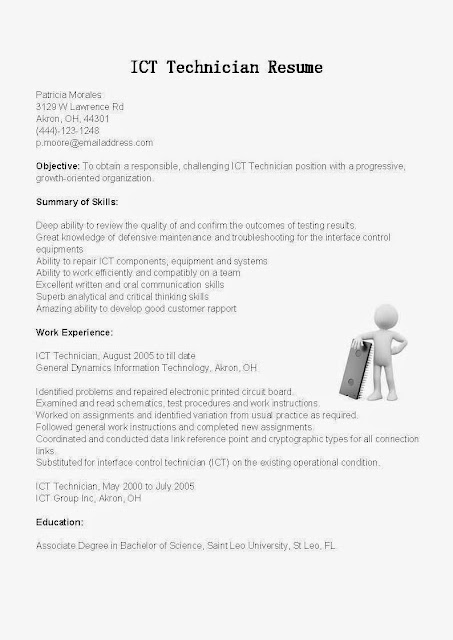 How To Write A Resume Responsibilities How To Write A Chronological Resume With Sample Resume Great Sample Resume Resume Samples Ict Technician Resume