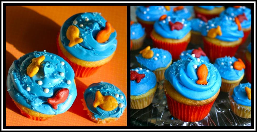 My Retro Kitchen One Fish Two Fish Cupcakes